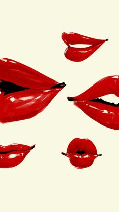 Red Lips Wallpaper so cool want if for my next bedroom