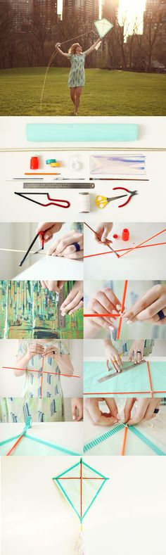 DIY Make Your Own Kite #diy #kite