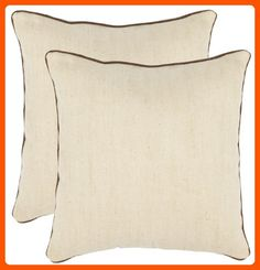Safavieh Pillow Collection 18-Inch Pillow, Solid Wheat, Set of 2 - Improve your home (*Amazon Partner-Link)
