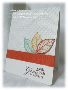Indian headdress Thanksgiving card using Stampin' Up!