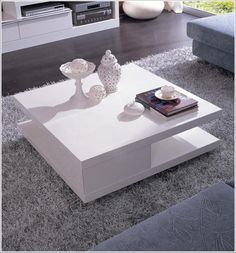 Modern Lacquer Coffee Table furniture in White - $275 -- Features: Square,  Two-tier design that allows for extra storage space.  -- URL: http://www.lafurniturestore.com/living-room/coffee-tables/5114c-modern-white-lacquer-coffee-table.html #furniture #livingroom #LAfurniture #LAfurnitureStore #Furnituredesign #HomeDecor #coffee table #interiordesign