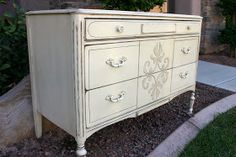 Doubletake Decor: Antique Dresser gets a makeover