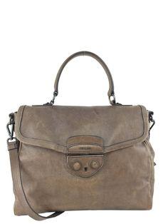 Prada Cinghiale Leather Pattina Large Satchel Bag