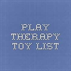 play therapy toy list