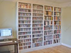Bookshelves with built in Cd Storage