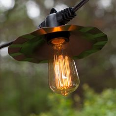 35' Patio String with Copper Shades and Vintage Outdoor Patio Lights