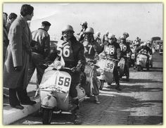 Racing scooters. Would loved to have raced my vespa!