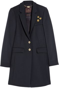 mulberry wool-blend coat