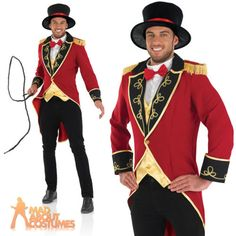 Adult male #ringmaster #costume mens circus fancy dress lion #tamer outfit new,  View more on the LINK: 	http://www.zeppy.io/product/gb/2/162185562860/