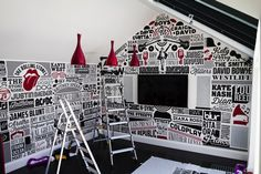 Epic typographic mural for pop star's music room | Typography | Creative Bloq