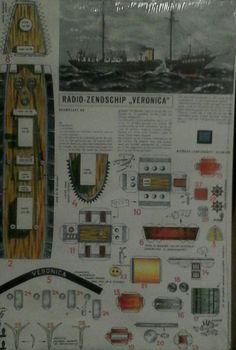Zelfs bouw platen uitgebracht ter gelegenheid van een jubileum in 1990 De Borkum Riff lichtschip zendschip Veronica