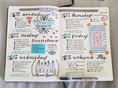 11-08 || This week's spread so far!! Getting more and more into handlettering, and I'm having a blast! ✒️