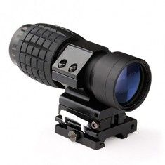 RioRand 3X Magnifier Scope Sight Tactical with Flip To Side 20mm Rail Mount Scopes Sight
