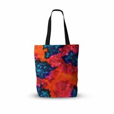"""Claire Day """"Jaded"""" Magenta Teal Abstract Painting Everything Tote Bag - KESS InHouse  - 1"""
