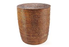 I have two of these type baskets that can be utilized somewhere in the apt (Nagoya Rattan Laundry Basket, Tobacco on OneKingsLane.com)