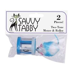 Savvy Tabby 2-Pack Two-Tone Mouse and RollerPet Toys, Blue *** You can get additional details at the image link.