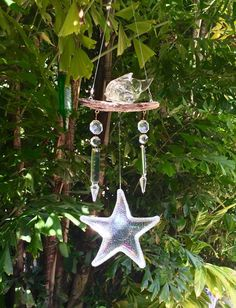 Items Similar To Crystal Wind Mobile, Fishermanu0027s Gift, Spinning Ornament, Garden  Art On Etsy