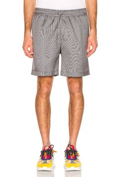 5702fadb8a3 VERSACE VERSACE SHORTS IN ABSTRACT