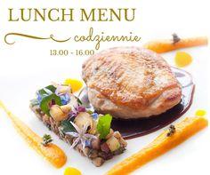Dołącz do nas na lunch. Set Menu codziennie od 13-16.00 !  2 dania - 59 zł 3 dania - 69 zł