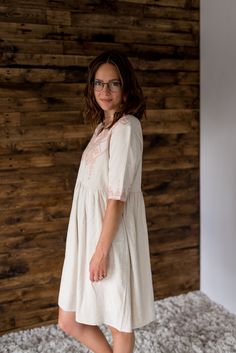 Madelyn Mauve Dress, White Dress, Comfortable Fashion, Shorts, Model, Cotton, Shopping, Beautiful, Collection