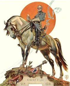 One of our fondest legends, General Robert E. Lee and his faithful horse, Traveller, by Norman Rockwell Art And Illustration, American Illustration, Illustrations, Jc Leyendecker, Norman Rockwell Art, Graphisches Design, Le Far West, Art Graphique, Artist Gallery