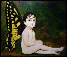 Lucía de mariposa (óleo sobre lienzo 2011)