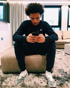 GregGehrig shared a photo from Flipboard Leroy Sane Instagram, Cute Black Guys, Cute Guys, Manchester City Wallpaper, Lee Roy, Sports Drawings, Football Fashion, Just A Game, Train Hard