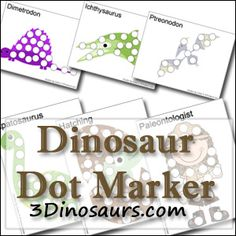 Free Dinosaur Dot Marker Pages - 3Dinosaurs.com