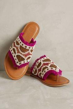 Jasper & Jeera Manju Slides Black & White Sandals #anthrofave