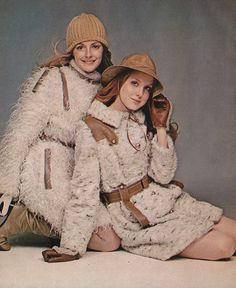 'What's cozy and warm and light as a snowflake? The furry fakes, of course!' (1969) #seventeen