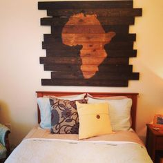 DIY Pallet Africa Wall Decor! OH MY GOSH. I'm in love!
