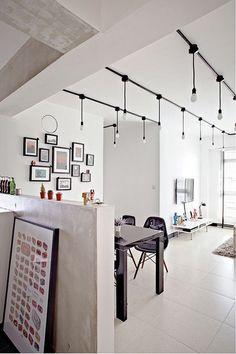 Industrial track lightingIlluminate Your Kitchen Stylishly With This Easy DIY Lighting  . Diy Kitchen Track Lighting. Home Design Ideas
