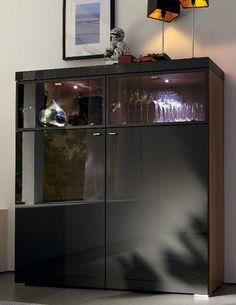 Contemporary lacquered high sideboard ENCADO II hülsta