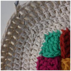 Crochet Stool Cover Photo Tutorial      I used Drops Paris, which they sell  here  at Deramores and  here   at Wool Warehouse, both ship wor...
