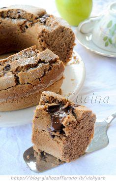 Ciambella con farina di riso al cioccolato vickyart arte in cucina