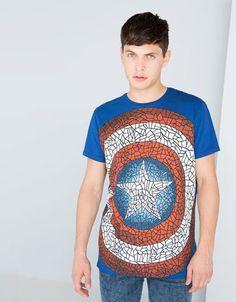 Bershka Venezuela - Camiseta estampada Capitán América