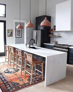 Home Interior Salas .Home Interior Salas Kitchen Rug, New Kitchen, Kitchen Decor, 1970s Kitchen, Eclectic Kitchen, Kitchen Black, Scandinavian Kitchen, Island Kitchen, Kitchen Countertops