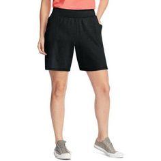 Just My Size Women's Plus-Size Jersey Pocket Short, Size: 1XL, Black