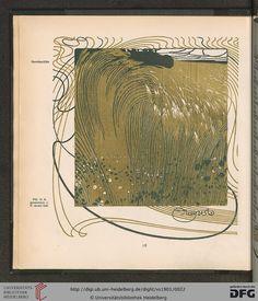 August, Ver Sacrum magazine, Volumn 4, 1901. Art nouveau.