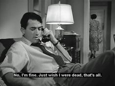 Gregory Peck as Phil Schuyler Green :: 'No, no, I'm fine. I just wish I was dead is all.' Gentlemen's Agreement [1947] by Elia Kazan