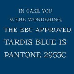 TARDIS blue • RGB = R-0 G-056 B-101 • CMYK =100C, 60M, 10Y, 53K