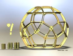 3-meter flat-pack dome geodesic cnc plywood modular construction