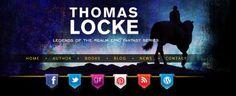 http://TLocke.com/?utm_content=buffera656f&utm_medium=social&utm_source=pinterest.com&utm_campaign=buffer header for Legends of the Realm epic fantasy books. When the Blogging Bistro team designed this custom, responsive WordPress site, we created custom headers for each genre of book the author publishes.