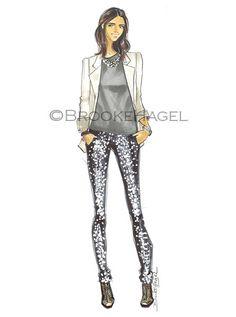 Leandra Fashion Illustration by brooklit on Etsy, $20.00
