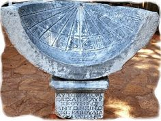 An ancient Greek sundial, by its very design is in harmony with Scripture Greek History, World History, Ancient Greek Art, Fun World, Sundial, Archaeology, Mythology, Greece, Antiques