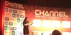 Meera Kaul - addressing as a key note speaker at channel Middle East conference 2013 at The Ritz Carlton DIFC,Hotel.
