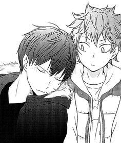 Manga Anime, Haikyuu Manga, Anime Art, Kageyama X Hinata, Kuroo, Aphrodite, Kagehina Cute, Artist Problems, Kurotsuki