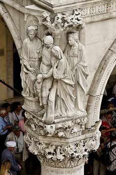 Doge's Palace, Venice- detail of angel on portico- photo via Flickr