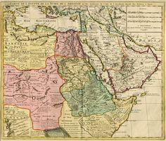 Carte de l'Egypte de la Nubie de l'Abissini. ... - De L'isle - Covens & Mortier, c. 1730