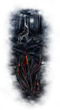 Do you have an amazing design idea or maybe an existing tattoo that you hate and really want covered? if so Custom tattoo design can take all of your ideas and bring them to life. Wolf Tattoos, Dream Tattoos, Badass Tattoos, Animal Tattoos, Body Art Tattoos, Tattoo Drawings, Tatoos, Wolf Sleeve, Wolf Tattoo Sleeve